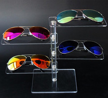 Hot sale 4-layer Acrylic Sunglasses Display Rack Shelf Eyeglasses Showing Stand Jewelry Desktop Bracelet Necklace Holder 3pcs