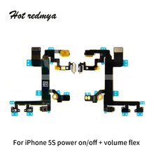 Original For iPhone 5G 5S Power on off Button Swtich Volume Side Key Sound Flex Cable Ribb