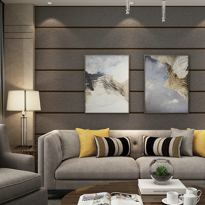 Modern 3D embossed stripe background wallpaper 3D thick stone print mural wallpaper Living room bedroom TV wall wallpaper stone vine leaves mountain large mural 3d wallpaper tv backdrop living room bedroom wall painting three dimensional 3d wallpaper