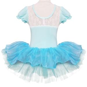 Image 3 - Children Girls Ballet Tutu Dress Flower Snowflake Sequins Ballet Leotards Kids Princess Stage Performance Dance Costumes