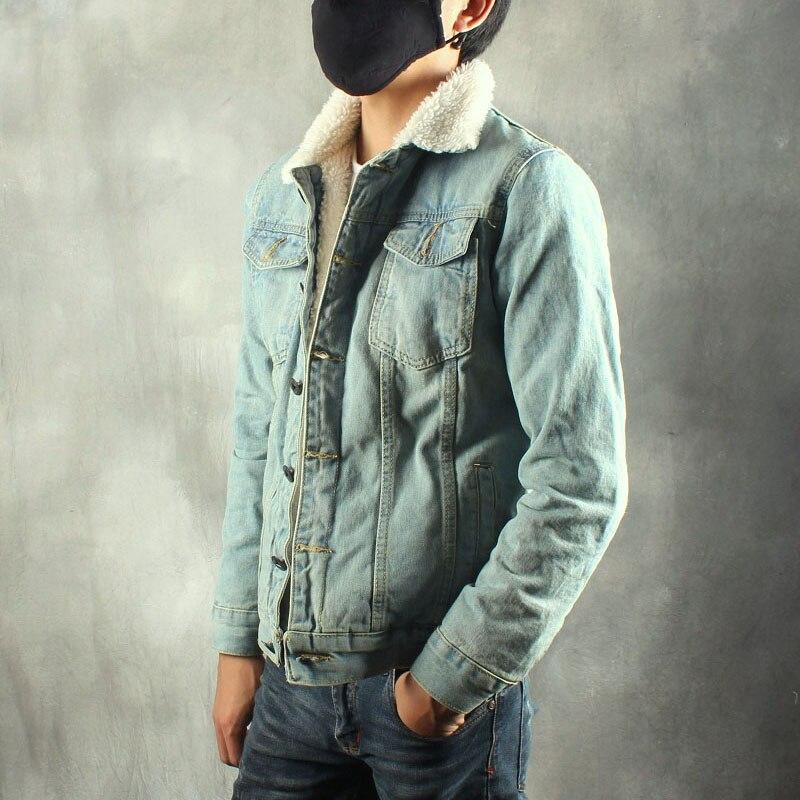 2019 herfst winter nieuwe heren bontvoering fleece jas mode slim fit - Herenkleding - Foto 2