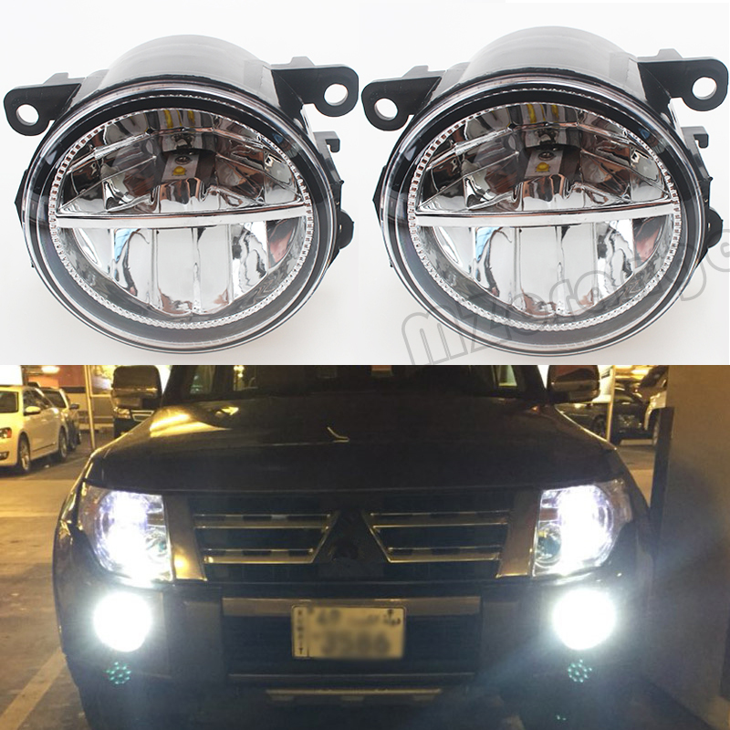For Mitsubishi OUTLANDER 2/II CW_W 2006-2009 10W Fog Light LED DRL Daytime Running Lights Car Styling Lamps