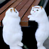 1pc Mini Cute Plush Cat Toys Plush Animals Simulated animal model Cat Doll Toys Kids Toys Girls Gifts Home decorations ph Props