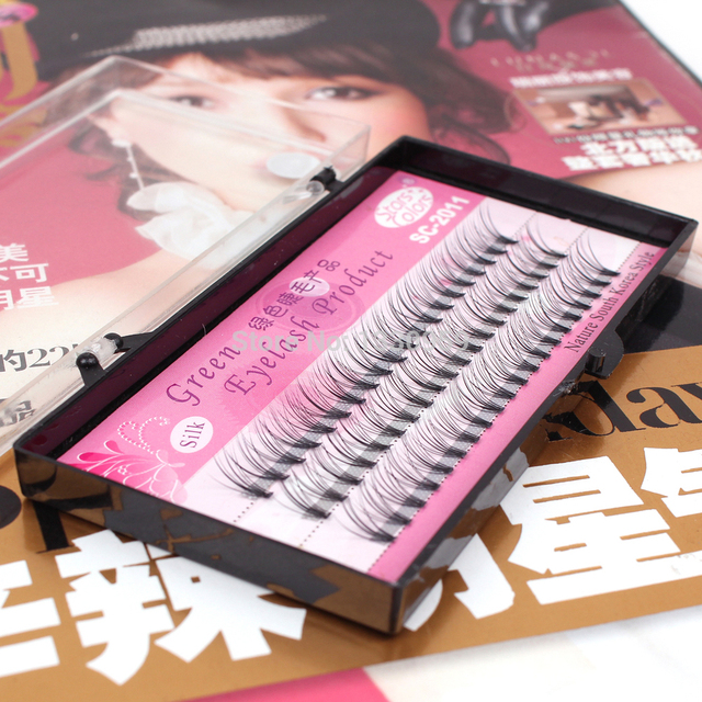 Makeup Cluster Eyes Lashes Natural Curl Easy Fan False Eyelashes Extension Eyes Tools 6mm 8mm 10mm 12mm Free Shippng 4