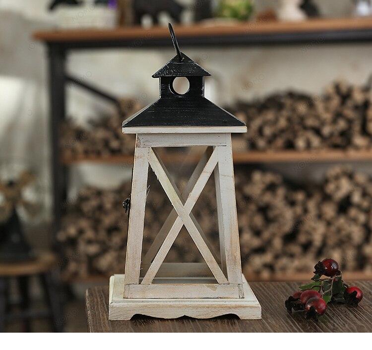 Us 2563 Drewniane Szklany Lampion Kryty Miękkie Przenośny Lampiony Dekoracyjne Prezent Dla Gospodarstw Domowych W Drewniane Szklany Lampion Kryty