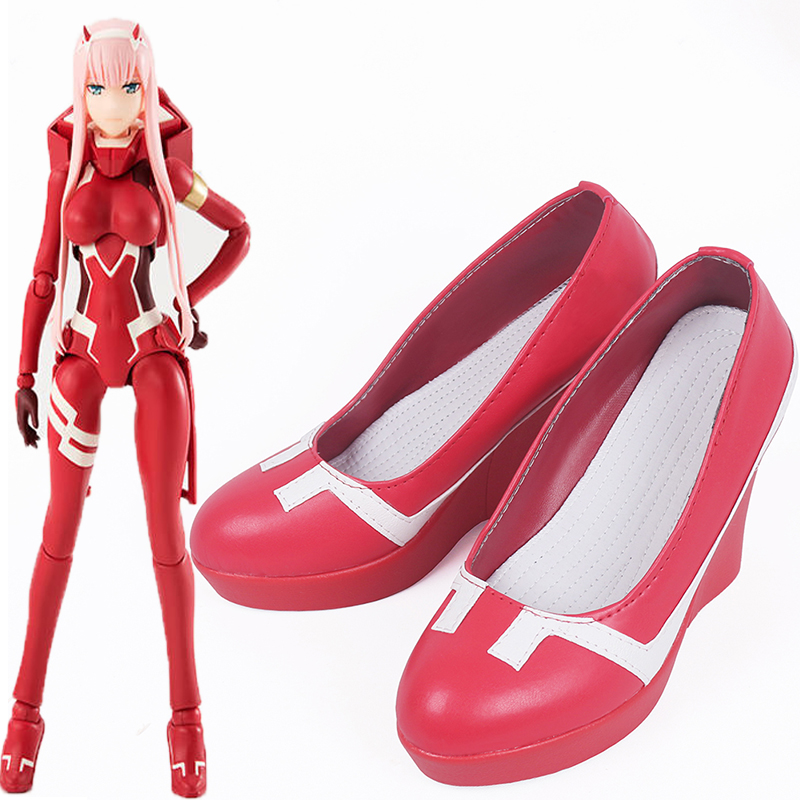 Anime Darling in the Franxx 002 Cosplay Shoes Zero Two Cosplay Shoes Halloween Party Women Cosplay Costumes Daily Leisure Shoes