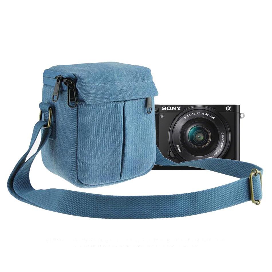 Bolso de la cámara para Sony DSC RX100II RX100IV RX100 M2 M3 M4 M5 V II a6300 a6000 a5000 a5100 HX90 HX60 HX50 W830 W800 WX350