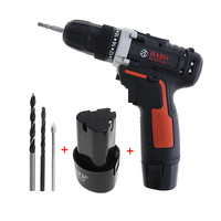 12 Volt Max Lithium Ion Battery 28N.m 2 Speed Electric Cordless Drill Mini Drill Screwdriver Wireless Power Driver + 2 batteries