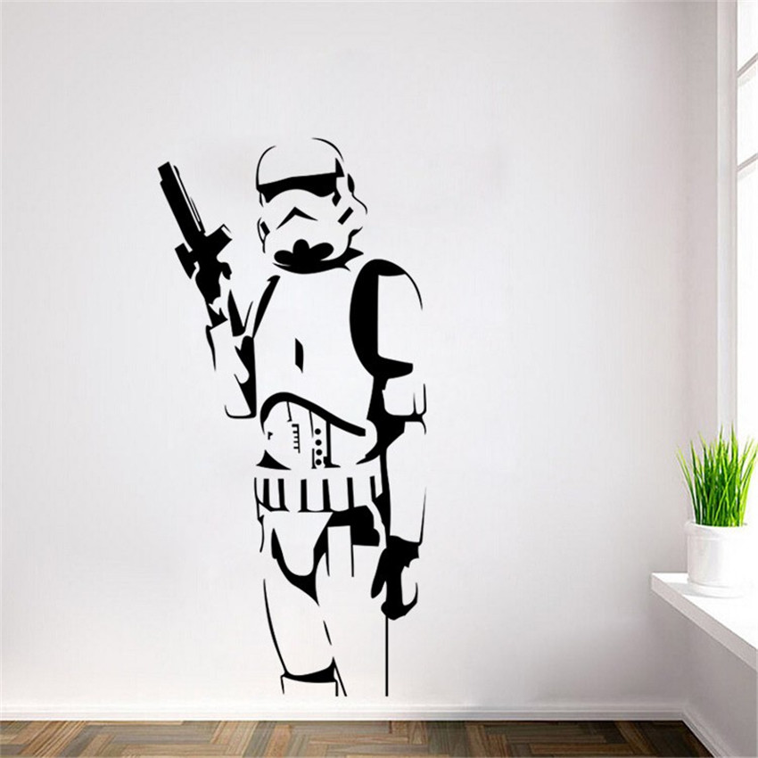 DIY Star Wars Character Wall Stickers Suitable For The Living Room Home Decor Art Posters