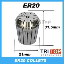 Высокоточный ER20 Точность 0,005 мм Пружина Коллею Для фрезерных станков гравировальный инструмент