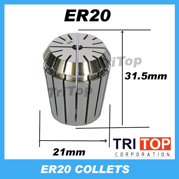 High Precision ER20 Accuracy 0.005mm Spring Collet For CNC milling lathe tool Engraving machine Free Shipping