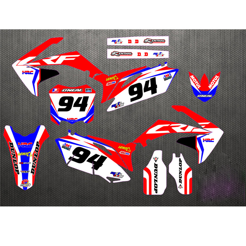 10 13 CRF250R Free Customized Stickers Kit Full Graphic Background Sticker Decal for Honda CRF 250
