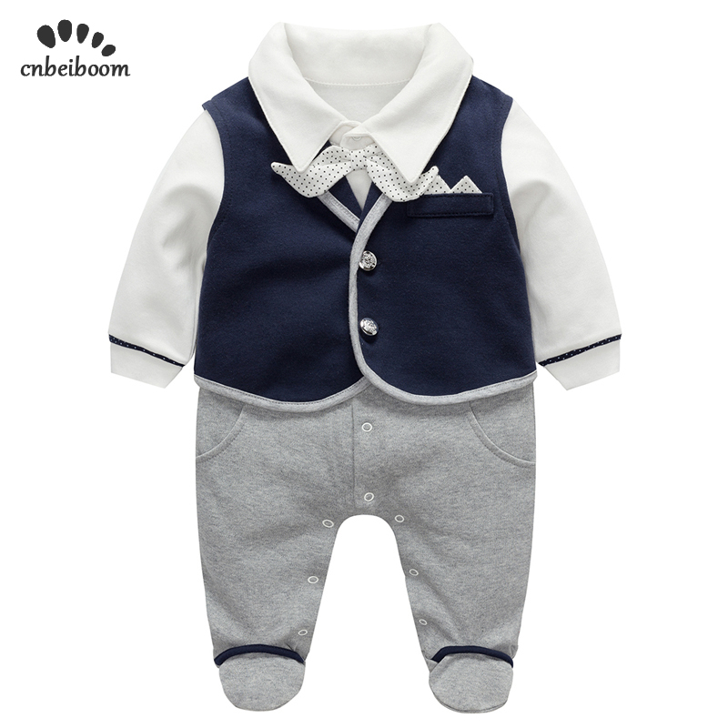 Newborn romper gentleman suits vest + rompers 2 pcs sets baby first  birthday party 100% cotton jumpsuit infant toddler clothesNewborn romper gentleman suits vest + rompers 2 pcs sets baby first  birthday party 100% cotton jumpsuit infant toddler clothes