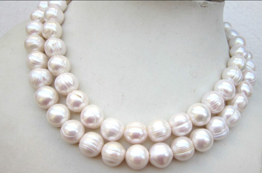 classic 12-13mm south sea baroque white pearl necklace 18