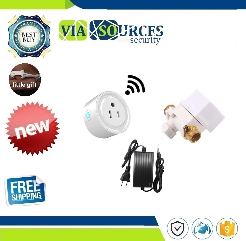 A Set Automatic Watering WIFI Timer Switch Water Valve Watering Set Irrigation Automatic Broadcast Timer Quantitative Controller