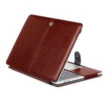 Capa de laptop para apple macbook air pro, retina 11 12 13 15 polegadas com barra de toque e capa de couro pu capa dura