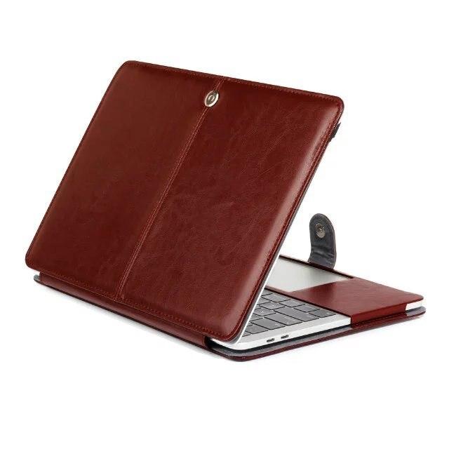 Nowe etui na laptopa do Apple Macbook Air Pro Retina 11 12 13 15 cali z dotykowym paskiem PU skórzane etui z twardą okładką