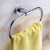 Bathroom Accessory solid brass polished chrome Round bathroom shelf holder rack suitable for Towel