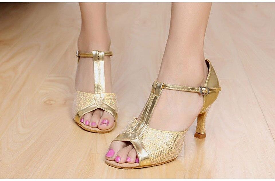MoveFun New Glitter Women Latin Dance Shoes Tango Salsa Party - Kondisko - Foto 4