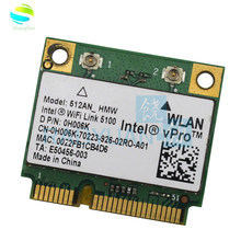 Adaptador sem fio 512an_hmw para intel wifi ligação 5100 mini pci-e adaptador wlan portátil rede 2.4g/5ghz para dell