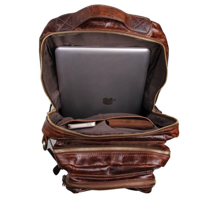 J.M.D Genuine Leather Backpacks Travel Bags High Quality Shoulder Bag Large Capacity Backpack Laptop Bag 7048Q ks v2 welcom chime bell sensor