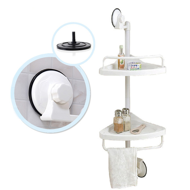 Aliexpress.com : Buy Bathroom Organizer PVC Wall Mounted Double ...
