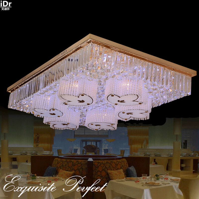 Kreative Moderne Rechteckigen Wohnzimmer Lampe Kristall LED Lampen Schlafzimmer Esszimmer Beleuchtung Deckenleuchten Lmy