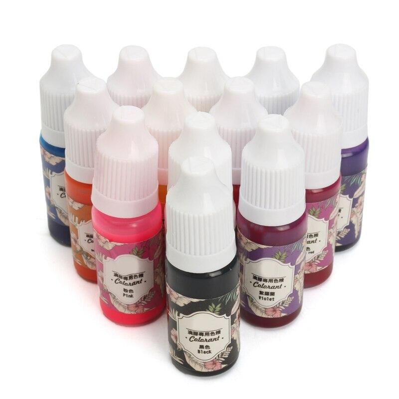 Kiwarm 13 Botellas x10g práctico epoxi resina UV colorante tinte ...