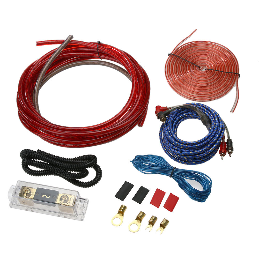 4 Gauge Complete Car Audio Wire Wiring Amplifier Subwoofer Speaker ...