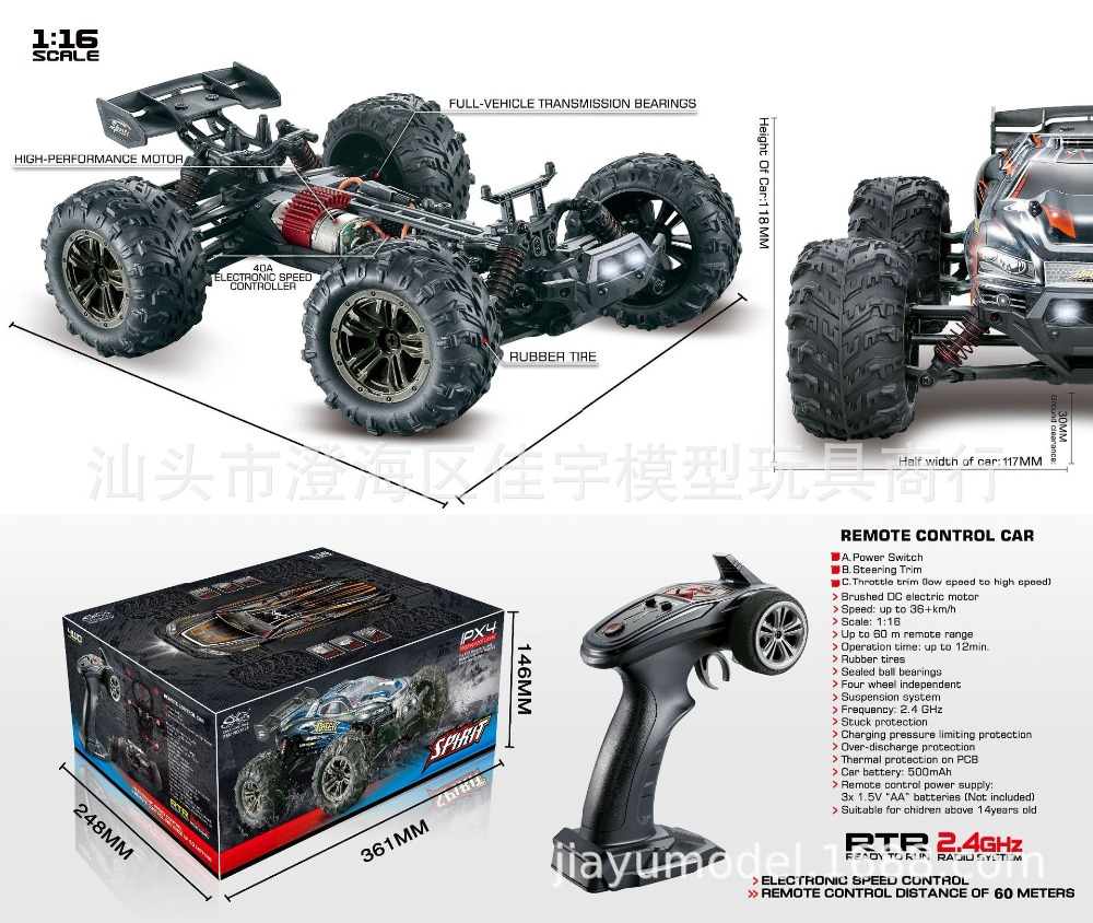 9136 Car Four Wheel Drive Off-road Vehicle Remote Control RC High Speed Toy Car