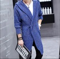 Autumn New fashion casual trench Men's medium-long sweater outerwear tide cardigan cloak long coat