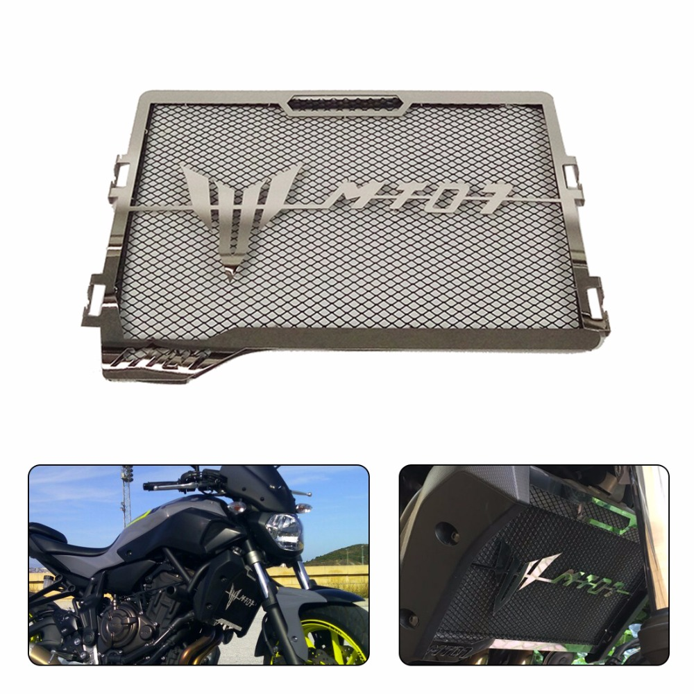 For Yamaha MT-07 MT07 MT 07 Radiator Grille Guard Cover Protector For Yamaha MT-07 2014 2015 2016 2017 100% Brand new 2017 new black motorcycle radiator grille guard cover protector for yamaha mt07 mt 07 mt 07 2014 2015 2016 free shipping