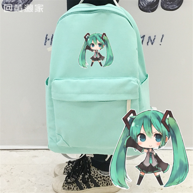 цена на New Arrival Brand Fashion Hatsune Miku VOCALOID Candy Colors Backpack Kantai Collection Cartoon Students Shoulder Bags for Kids