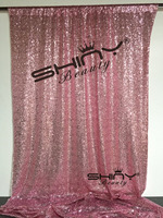 ShinyBeauty 8FTx8FT Shiny Pink Gold Sequin Backdrop For Wedding/Party/Events Decoration ar