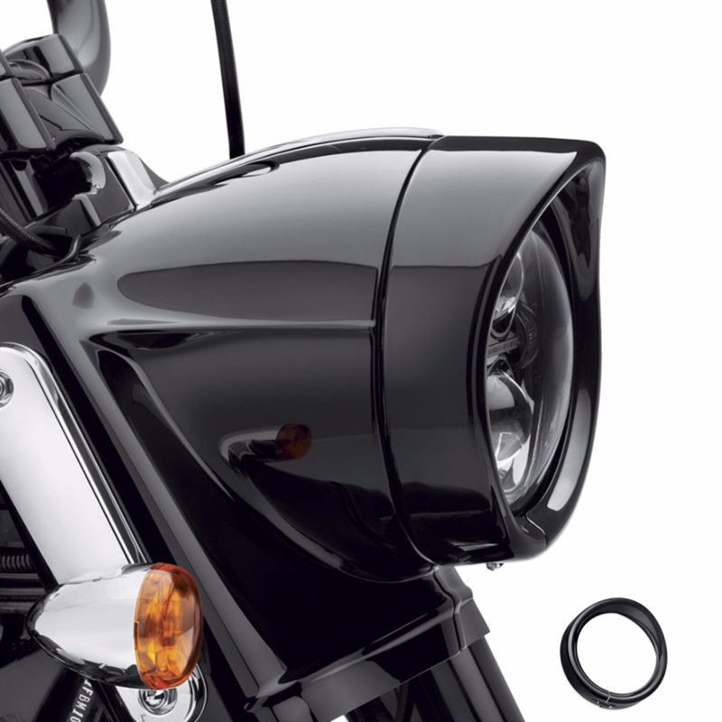 7 inch Round Headlight Headlam Trim Ring For Harley Touring Road King Electra Glide Motorcycle Headlamp Trim Ring7 inch Round Headlight Headlam Trim Ring For Harley Touring Road King Electra Glide Motorcycle Headlamp Trim Ring