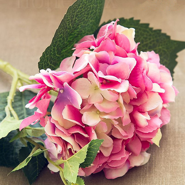 Online shop 46cm dark pink artificial hydrangea blue flower flower 46cm dark pink artificial hydrangea blue flower flower rod diy silk accessory for party home wedding decoration mightylinksfo