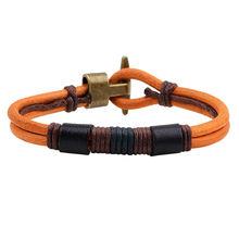 Мужской браслет модное ювелирное изделие кожаная цепь плетеный