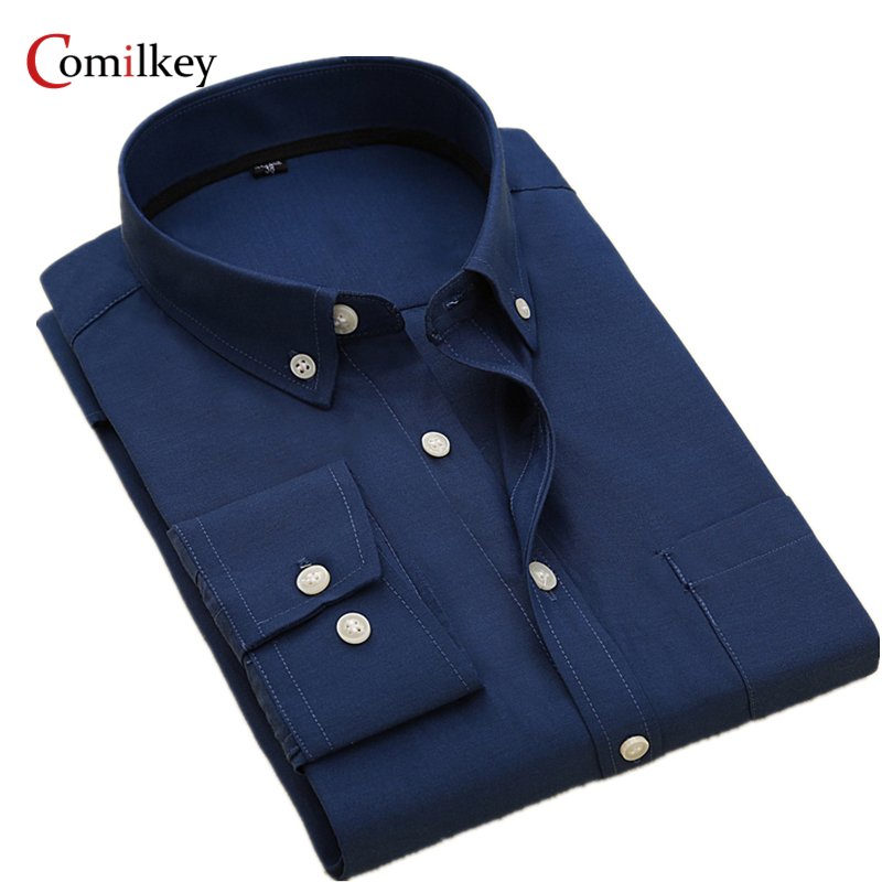 Brand Clothing Mens Business Shirts Slim Long Sleeve Men Shirt Casual Camisa Social Masculina Male Shirt Plus Size Chemise Homme