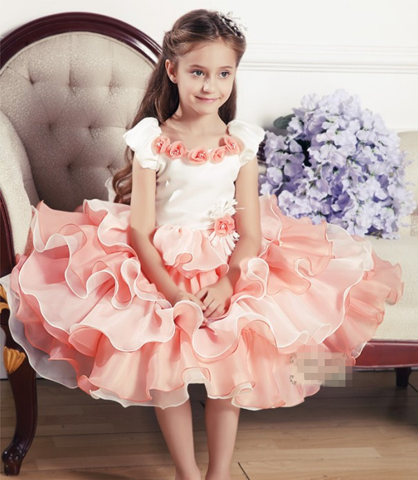 Baby Girls 2016 Wedding Dress Tutu Lace Princess Layered Dresses For