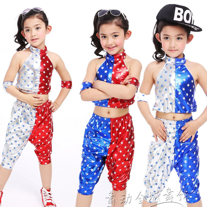 607bec96d 10pcs/lot Free Shipping Children Jazz Dance Costumes Kids Boys Girls Stage  Ballroom Dancing Dresses Clothes Hip Hop Dance Wear
