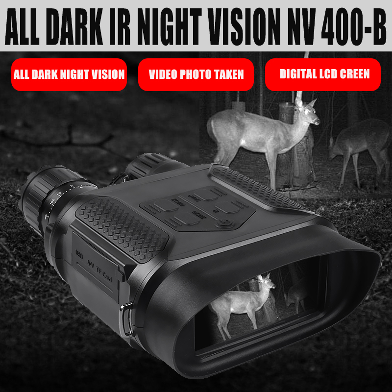 NV400 Digital Night Vision BINOCULAR IR LED Night Hunting Camorder 3.5X 7X Zoom Mini Night Vision Device for nighthunting