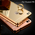 Hot Sale For Huawei P8 Case Luxury Mirror Metal Aluminum+Acrylic Hard Back Cover Phone fundas huawei p8 5.2 Accessory Capa