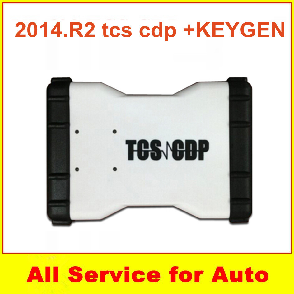 100% Quality +2014.2 keygen White interface New TCS cdp pro plus 21kinds languages without bluetooth SCANNER cars trucks - welcome to freyr's store