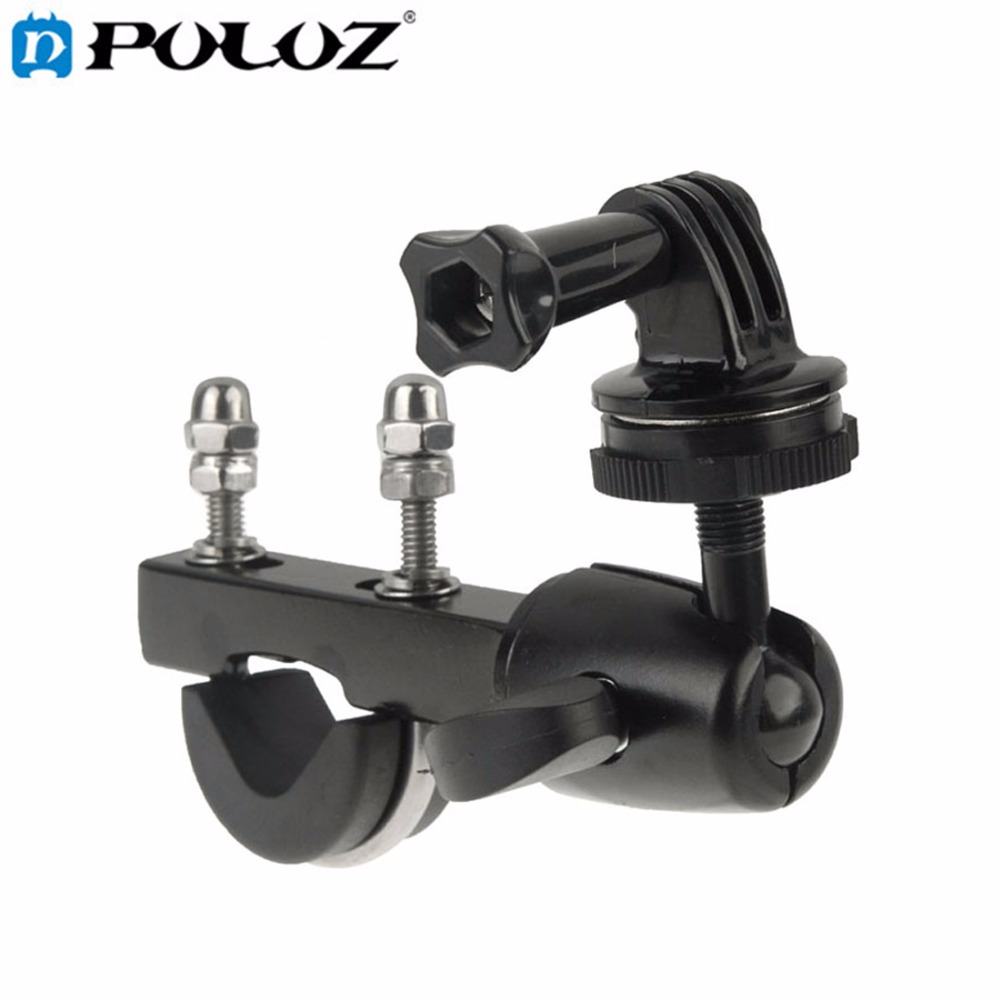 PULUZ Mini DV Camera Handlebar Big Pole Mount Bike Moto Bicycle Clamp add Tripod Mount Adapter Screw for GoPro Hero 4 3+ 3 2 1 h020 universal 1 4 screw helmet mount holder for dv suptig gopro hero 4 2 3 3 black page 4 page 2 page 3 page 3