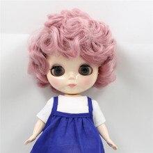 Fabrika blythe doll tombul bebek 90BL1063 pembe kıvırcık saç sevimli Plumpy bayan 1/6 şişman kız oyuncak hediye