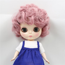 Free shipping factory Blyth plump doll 90BL1063 Pink curly hair Cute Plumpy Lady 1/6 fat girl Toy Gift