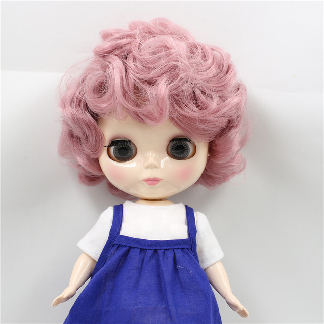 Free Shipping Factory Blyth Plump Doll Bl Pink Curly Hair Cute Plumpy Lady