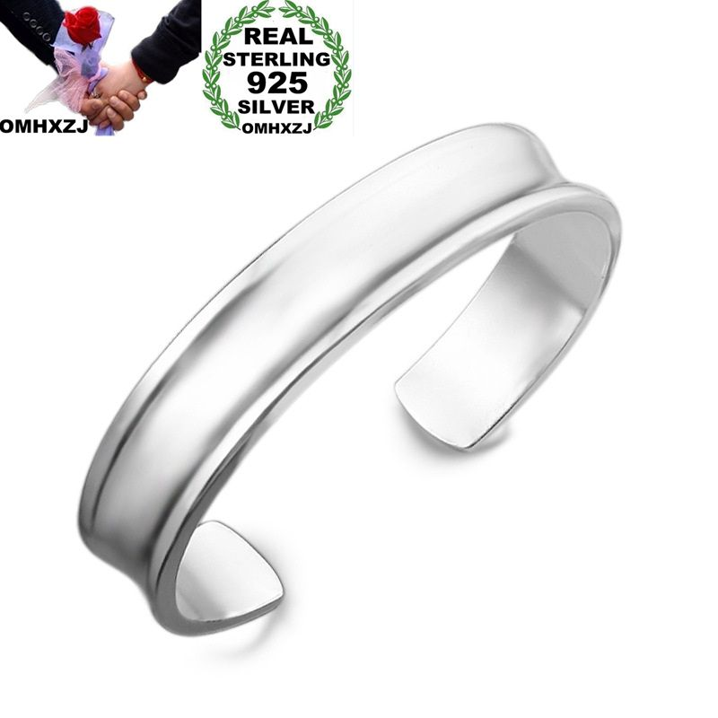 OMHXZJ Wholesale Personality Fashion OL Woman Girl Party Gift Silver Simple 925 Sterling Silver Cuff Bangle Bracelet BR138OMHXZJ Wholesale Personality Fashion OL Woman Girl Party Gift Silver Simple 925 Sterling Silver Cuff Bangle Bracelet BR138
