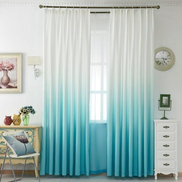 Aliexpress.com : Einfarbig regenbogen vorhang fenster moderne ...