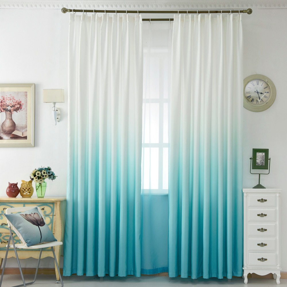 colorful bedroom curtains free shipping living summer panel solid curtain curtain 11165